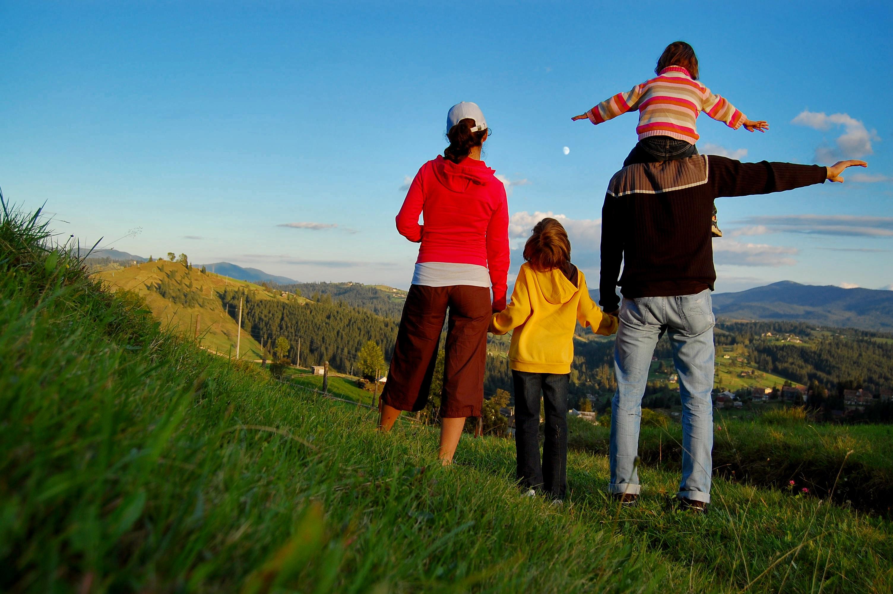 Фото детей в горах