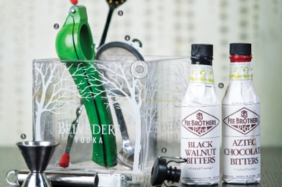 Black Walnut Bitters and Aztec Chocolate Bitters from Fee's Brothers