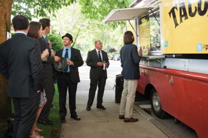 BRGR Food Truck and the PGH Taco Truck