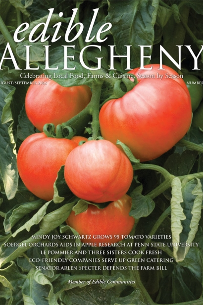 Edible Allegheny August/September 2008, Issue 3 Cover