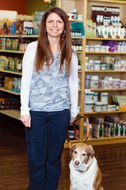 Toni Shelaske and pup, Meg