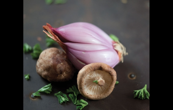 Mushrooms, Shallots and Parsley