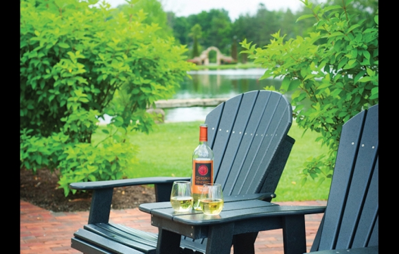 Open up a bottle of local wine in a picturesque setting at Gervasi Vineyard