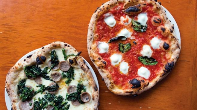 Il Pizzaiolo's Salsiccia e Rapini and Classic Margherita DOC