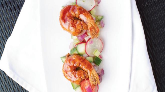 Shrimp appetizer at Jacksons Restaurant Rotisserie Bar