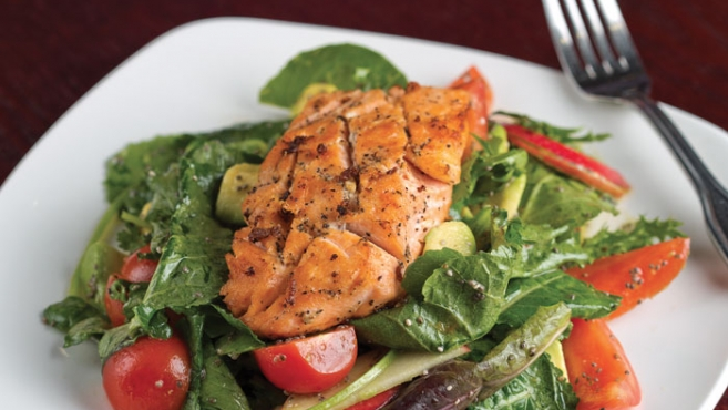 baby kale salmon salad recipe