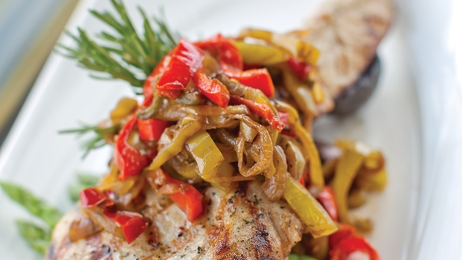 Pork Chops with Sweet and Spicy Peperonata Recipe