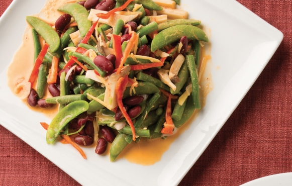 "red & green bean ""no-bake"" casserole recipe"