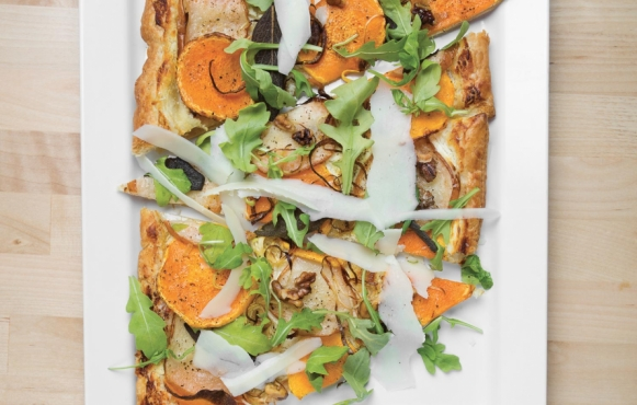 roasted pear and butternut squash flatbread recipe