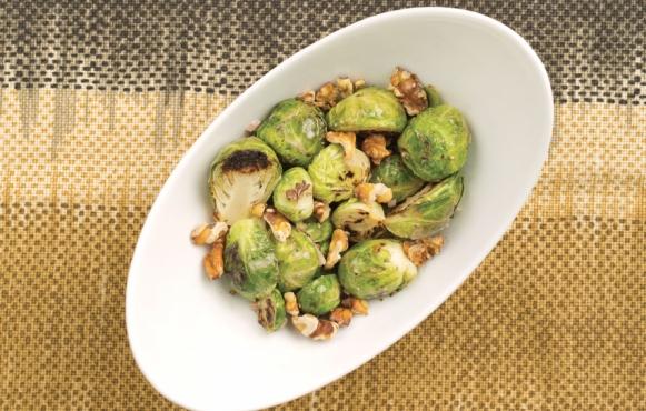 Brussels Sprouts with Walnut-Lemon Vinaigrette recipe