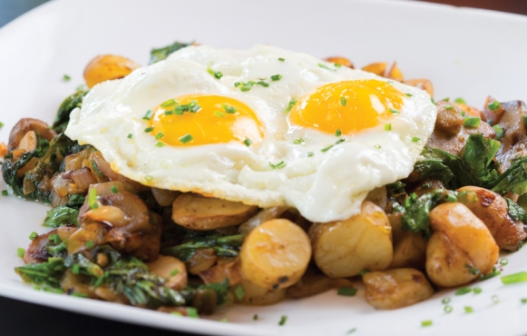 Greens and Chiles Hash