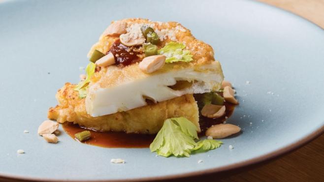 Chicken-Fried Cauliflower with Korean Barbecue Sauce