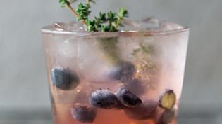 Blueberry & Rhubarb Shrub Cocktail