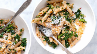Whole-Wheat Penne with Kale & Toasted Breadcrumbs